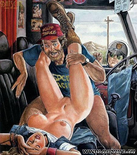 Подборка рисунков на тему секс в общественном месте или просто секс